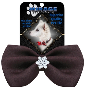 Snowflake Widget Pet Bowtie Brown